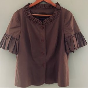 Escada puffy sleeved brown blazer